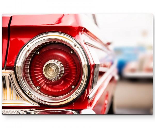 Rückleuchte rotes Auto - Leinwandbild