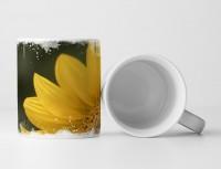Tasse Geschenk Makro – Sonnenblumenblüte