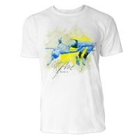 Hochsprung Mann Sinus Art ® T-Shirt Crewneck Tee with Frontartwork