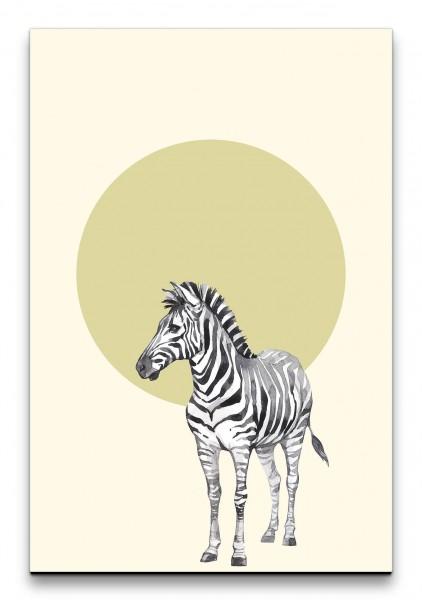 Zebra Savanne Wasserfarben Kunstvoll Minimalistisch Modern