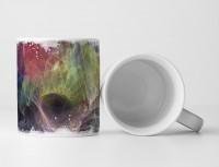 Tasse Geschenk Lichtstreifen in bunten Farben