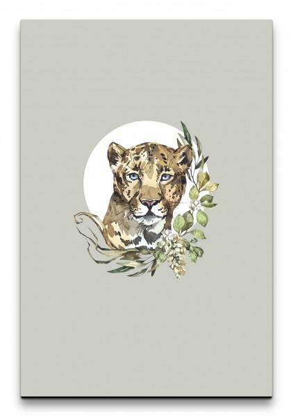 Jaguar Raubkatze Wasserfarben Dekorativ Schmückend Aquarell