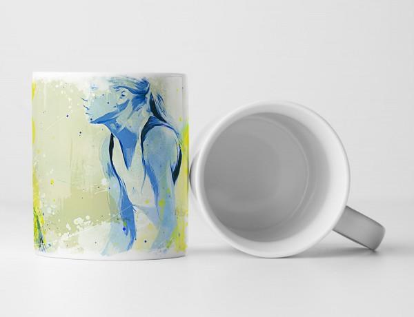 Tennis Tasse als Geschenk, Design Sinus Art