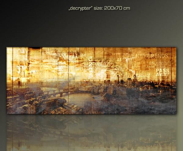 Decrypter 200x70 cm - London