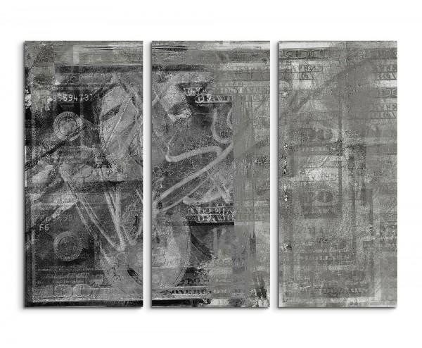 130x90cm Wandbild Abstrakt 503 -3x90x40cm