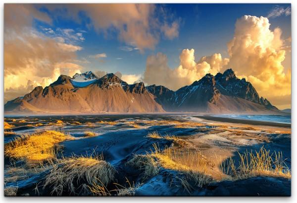 Island berge Wandbild in verschiedenen Größen