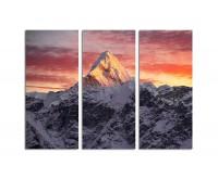 130x90cm schöner Sonnenuntergang Himalaja Berge