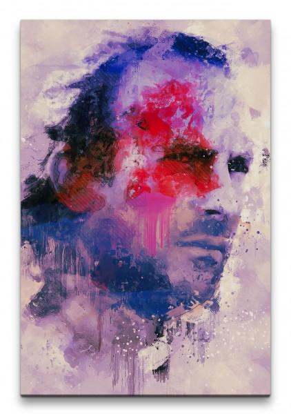 Kevin Costner Waterworld Porträt Abstrakt Kunst Schauspieler 60x90cm Leinwandbild