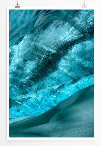 Digitale Illustration 60x90cm Poster  Eisschlucht