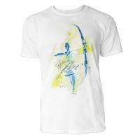 Bogenschießen frontal Sinus Art ® T-Shirt Crewneck Tee with Frontartwork