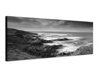 150x50cm Neuseeland Küste Wiese Meer Wolken