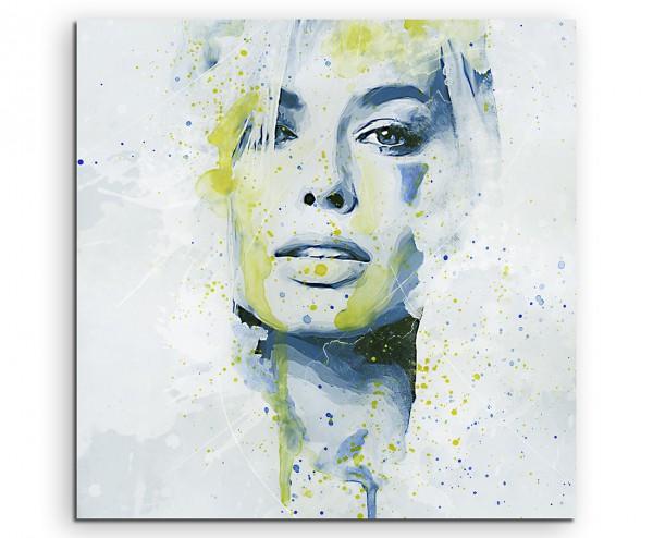 Beauty Splash 60x60cm Kunstbild als Aquarell auf Leinwand
