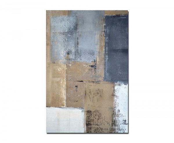 120x60cm Farben Malerei Kunstwerk gelb/braun