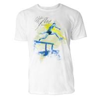 Hürdenlauf Sinus Art ® T-Shirt Crewneck Tee with Frontartwork