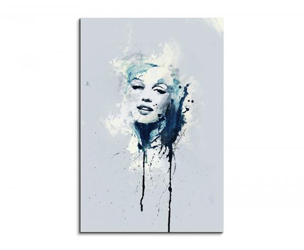Marilyn Monroe 90x60cm Aquarell Art Wandbild auf Leinwand fertig gerahmt Original Sinus Art