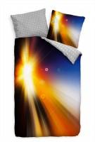 Abstrakt Licht Farbenfroh Unscharf Bettwäsche Set 135x200 cm + 80x80cm  Atmungsaktiv