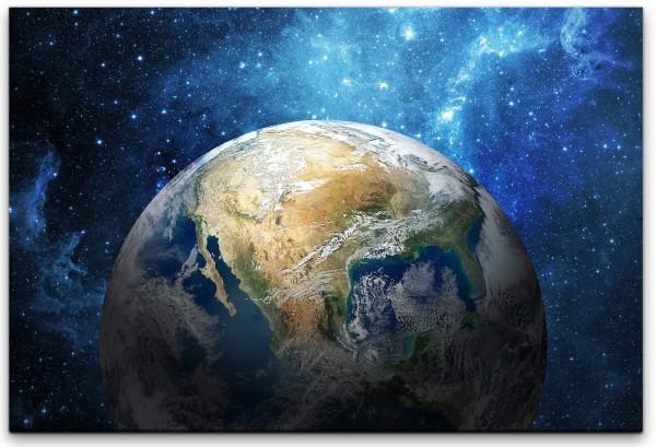 Erde im Weltall Wandbild in verschiedenen Größen