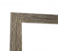Rahmenleiste Stripes Modern in Silber