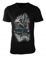 Skateboarding Damen und Herren T-Shirt schwarz / black