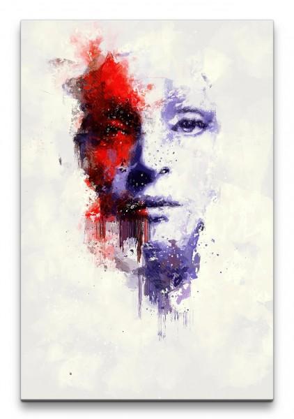 Uma Thurman Porträt Abstrakt Kunst Schauspielerin Farbe 60x90cm Leinwandbild