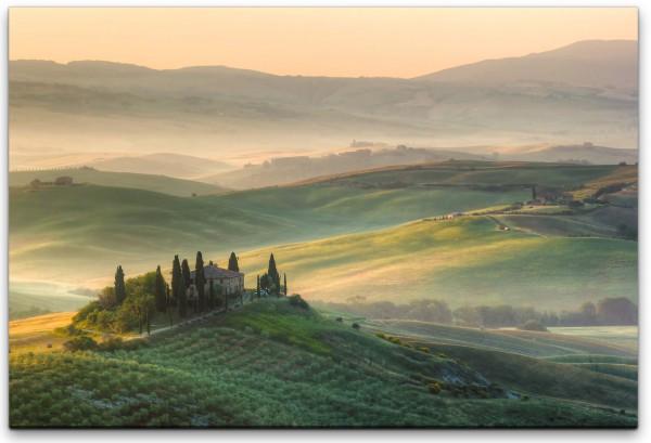 Toskana im Nebel Wandbild in verschiedenen Größen