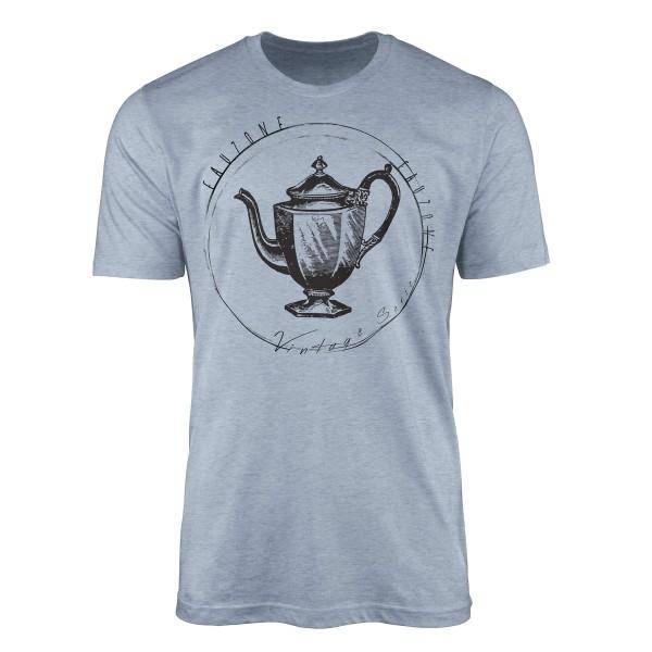 Vintage Herren T-Shirt Teekanne