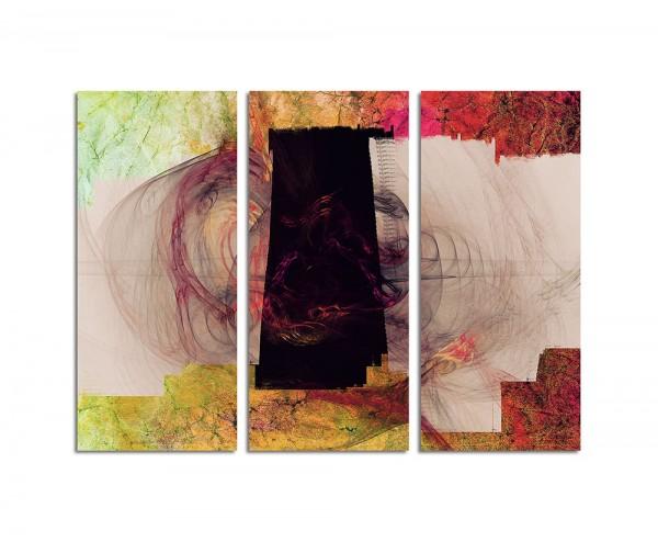 130x90cm Wandbild Abstrakt179 -3x90x40cm