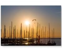 Hafen am Meer – Fotografie - Leinwandbild