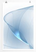 60x90cm Digitale Grafik Poster Zarte blaue Schlieren