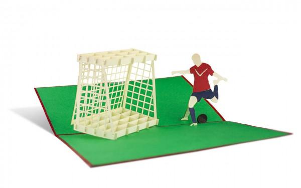 Fußball Grußkarte Größe: 12x18cm