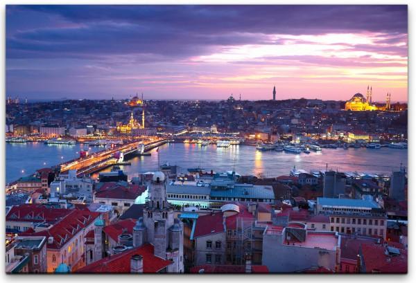 Istanbul Sonnenuntergang Wandbild in verschiedenen Größen