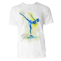Eiskunstlauf Arabeske Sinus Art ® T-Shirt Crewneck Tee with Frontartwork