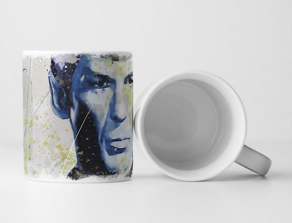 Star Trek Mr Spock Tasse als Geschenk, Design Sinus Art