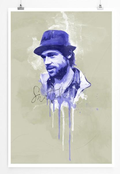 Snatch 90x60cm Paul Sinus Art Splash Art Wandbild als Poster ohne Rahmen gerollt
