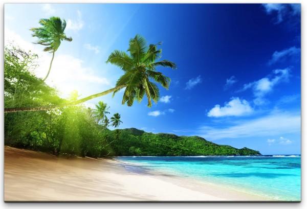 Strand an einer Insel Wandbild in verschiedenen Größen