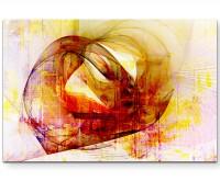 Moth Into Flame - Sinus Art Wandbild auf Leinwand ENIGMA SERIE