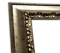 Exklusiver Echtholzrahmen Antik Glanz silber in rustikaler Optik