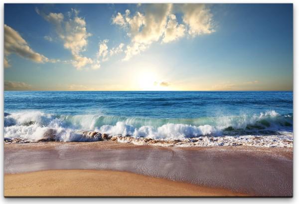 Strand mit Wellen Wandbild in verschiedenen Größen
