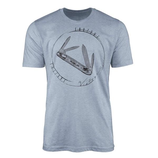 Vintage Herren T-Shirt Taschenmesser