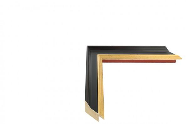 Echtholz Bilderrahmen ACADEMIE - Black with Gold