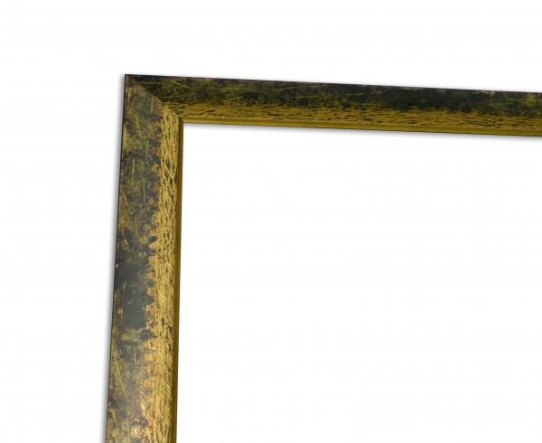 Bilderleiste Modern in Grün Gold Echtholzrahmen