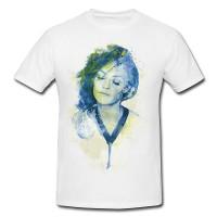 Vanessa Paradis Premium Herren und Damen T-Shirt Motiv aus Paul Sinus Aquarell