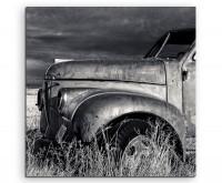 Naturfotografie – Alter Truck auf Leinwand