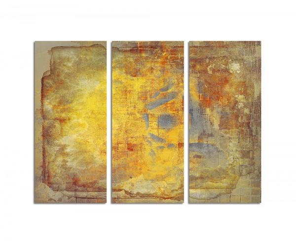 130x90cm Wandbild Abstrakt488 -3x90x40cm