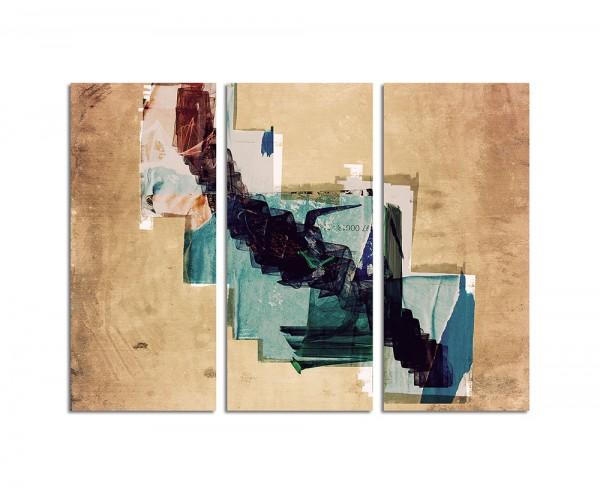 130x90cm Wandbild Abstrakt183 -3x90x40cm
