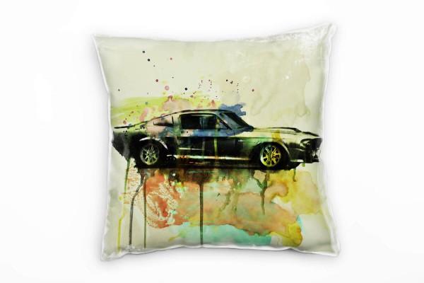 Ford Mustang Eleanor Deko Kissen Bezug 40x40cm für Couch Sofa Lounge Zierkissen