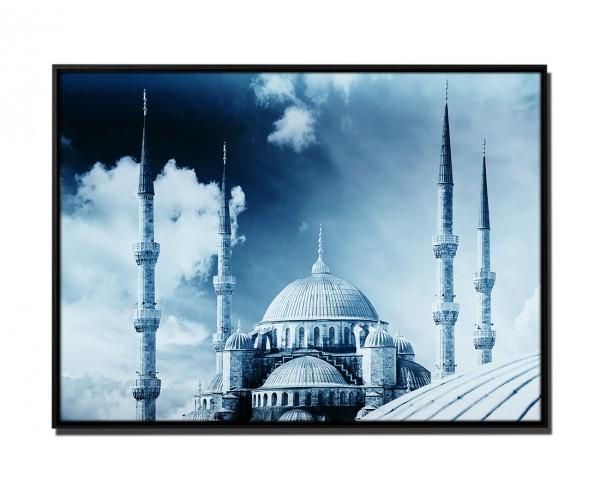 105x75cm Leinwandbild Petrol Istanbul Moschee (Sultanahmet Camii)