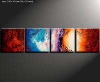 beduine 1 - vierteiliges Gemälde in dezenten Farben