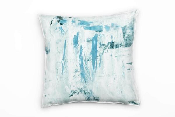 Couch Sofa Lounge Zierkissen in 40x40cm Pastellblau Eisblau