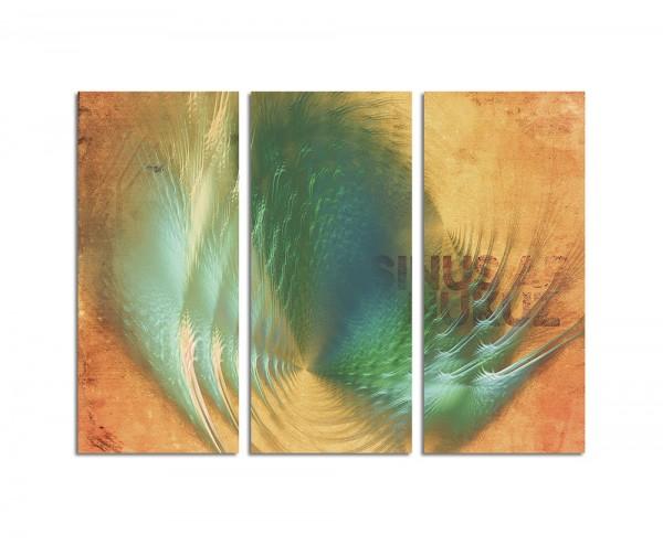130x90cm Wandbild Abstrakt155 -3x90x40cm